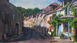 Street Bel Air at Jouy le Moutier