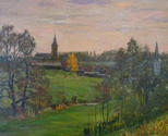 Landscape with two churches. Duessel