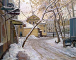 The yard at Obvodnoi Canal in Moscow