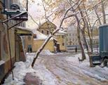 Дворик у Обводного канала. Москва
