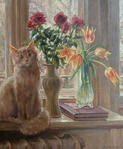 Artist's cat – Barsik