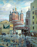Klimentovsky pereulok in Spring. Moscow