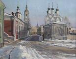 Черниговский переулок зимой. Москва