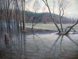 Arkhangelskoe in spring rain