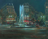 Paris. The Night on Place of Victor Hugo