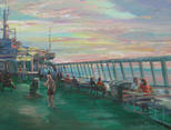 "On the ferry ""Silja Line – Serenada"". Evening"