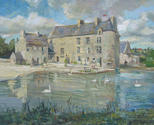 Saint-Sauveur le Vicomte, Vieux Château. Normandy