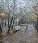 Дождь на Страстном бульваре