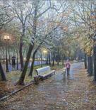 Strastnoi Boulevard in Rain