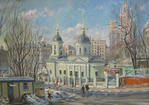 Moscow in Spring. 1st Kotelnichesky pereulok
