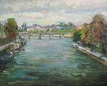 Autumn in Paris. A view on the Pont Royal (bridge)