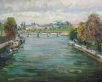 Осень в Париже. Вид на Королевский мост