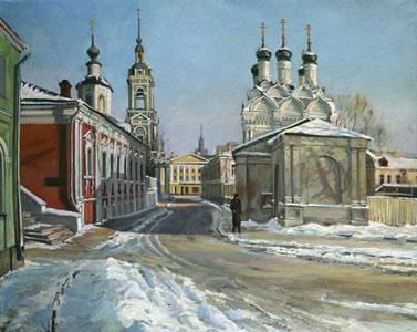 Chernigovsky pereulok in winter. 1988