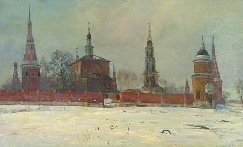 Панорама Голутвинского монастыря. 1987