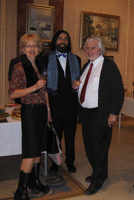 Елена Якунина, Виктор Лукьянов и Эдмон Сантенуа. РЦНК в Париже, 2005 г.