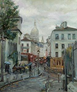 Дождь на Монмартре. 2008